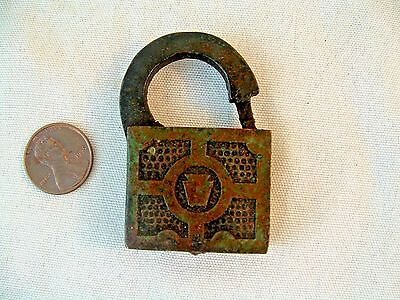 Antique E.T. Fraim Lock Co Padlock Lock No Key Keystone Symbol Lancaster PA.USA