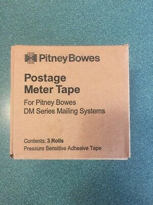 Pitney Bowes 627‑8 Self‑Adhesive Postage Tape Compatible (3 Rolls)