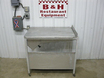 "Baxter Stainless Steel Donut Icing Bakery Glazing Table w 17"" Hand Glazer Dipper"