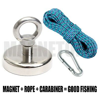 Magnet  METAL DETECTOR Recovery_TREASURE FINDER_FERRITE_Fishing MAX 98kg + GIFT