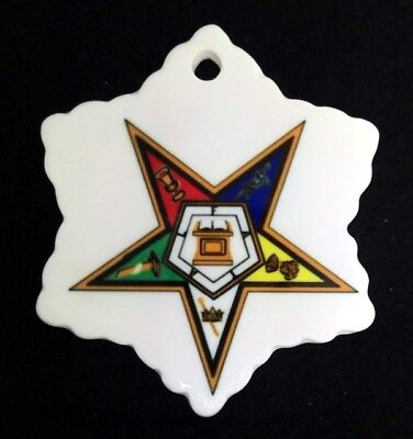 Order of the Eastern Star Snowflake Ceramic Christmas Ornament