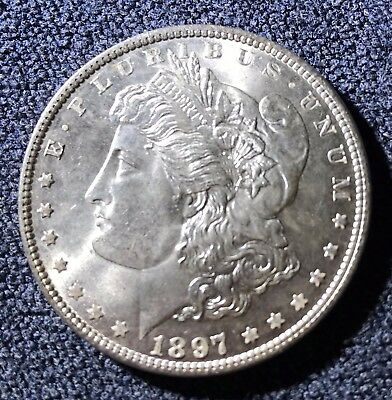 1897 Morgan Silver Dollar (#8224) Choice BU and PQ Carefully Check out the Photo