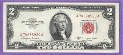1953C $2.00 Legal Tender or United States Note  A74658920A  UNC