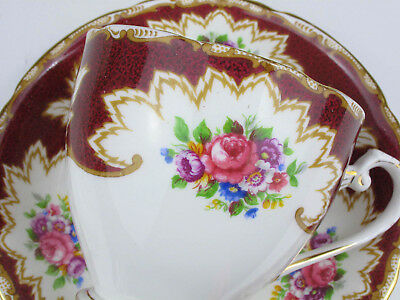 Vintage Staffordshire Royal Crafton Porcelain Pair of saucer and cup