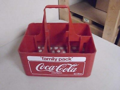 Vintage Red Plastic 6 Pack Coke Carrier Case
