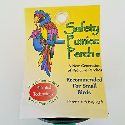 Sweet Feet And Beak Safety Pumice Perch For Small Birds Cockatoos Non Toxic New