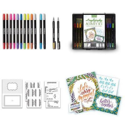Calligraphy Art Set Signature Crayoligraphy Hand Lettering Tutorials Crafts Kit