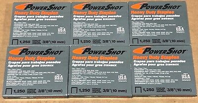 "7,500 PowerShot 3/8"" Heavy Duty Staples 16 Gauge Galvanized Steel USA Made"
