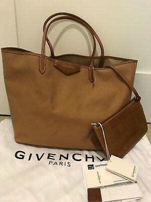 75c4c42e7553 Givenchy Antigona Medium Beige Canvas   Leather Tote with Pouch NWT Retail   1320