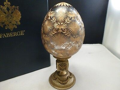 Signed Tatiana Faberge ,  Faberge Crystal Egg Coronation New Box Gold