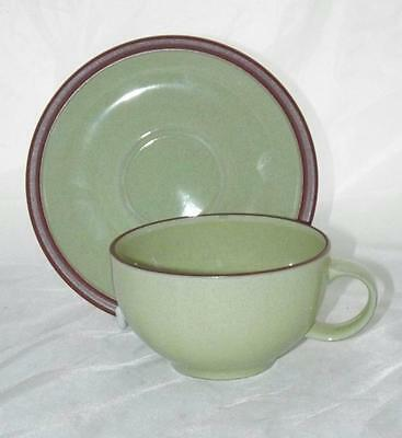 Denby Pottery Juice Apple Pattern Cup and Saucer 10cm Dia made in Stoneware