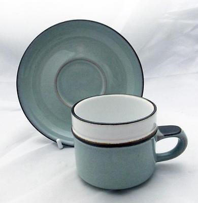 Denby Pottery Romance Pattern 8cm Dia Cup with Saucer made in Stoneware