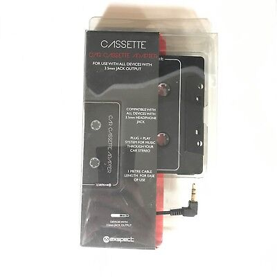 CAR CASSETTE ADAPTOR : COMPATIBLE WITH ALL 3.5mm HEADPHONE JACKS : MP3 / IPOD