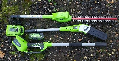 Greenworks G40PSH 40v Cordless Long Reach Hedge Trimmer & Tree Pruner 1 x 2Ah.