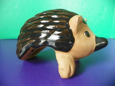 Clay Hedge Hog Shelf Sitter Unique!