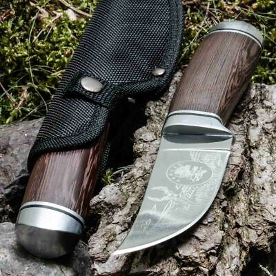 8.90in KANDAR LEN-39 FIXED BLADE KNIFE HUNTING A.