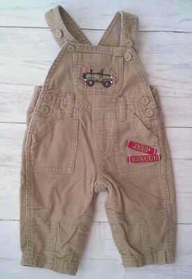 Baby Boys Light Brown Cord Dungarees 0-3 months