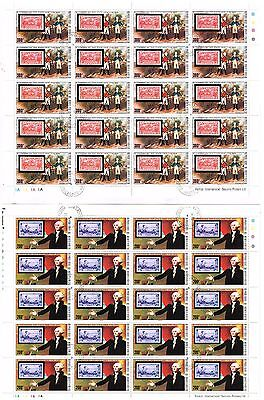 """Postage Stamps Burkina Faso"" Upper Volta sheets U. S. Independence issues"