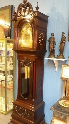 Antique Korfhage Mahogany Grandfather Clock