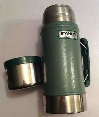 STANLEY Aladdin Classic 24oz Metal Wide Mouth Food Canister Thermos CUP & LID