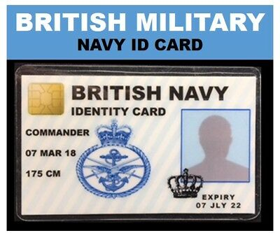 """UK's finest"" ROYAL MILITARY ID CARDS your choice  NAVY, ARMY, AIR FORCE & >>>"