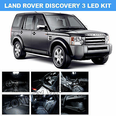 Landrover Discovery 3 Interior light LED upgrade kit for Maps, Dome & Cargo ect