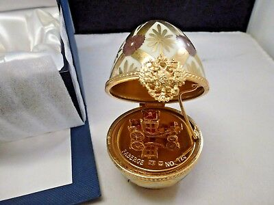 Faberge Limoges CORONATION COACH   SURPRISE Egg Signed Numbered  BRAND NEW BOX