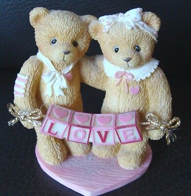 Cherished Teddies Love Figurine - Boy & Girl Bears -1996 P Hillman - 2 1/2""