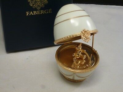 Faberge Limoges LITTLE TEDDY BEAR SURPRISE Egg Signed Numbered  BRAND NEW BOX