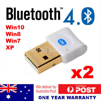 2 Pcs USB Bluetooth V4.0 Dongle Wireless Adapter PC Laptop A2DP EDR 3Mbps Speed