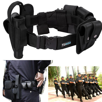 Police Tactical Belt Nylon Duty Security Guard Enforcement Equipment SWAT USA