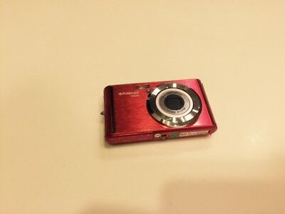 Polaroid iE826 Red 18 MP 8X Optical Zoom Digital Camera Excellent Works Perfect
