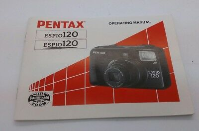 Original Instruction Manual for Pentax ESPIO 120  film camera  56p LIKE NEW