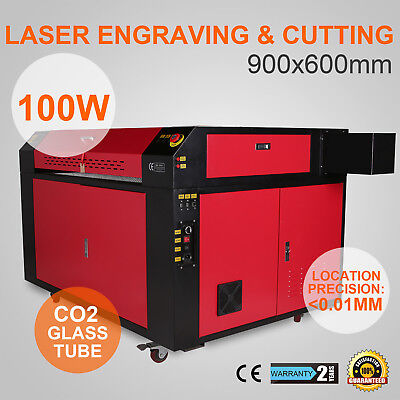 100W CO2 Laser Engraving Cutting Machine Engraver Cutter USB Port High Precise