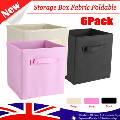 Foldable Square Fabric Storage Bin Collapsible Box Drawer Clothes Organizer Cube