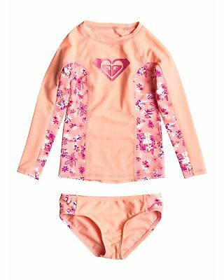 NEW ROXY™  Girls 2-7 Beach Bound Tropical Long Sleeve Beach Set Girls Surf