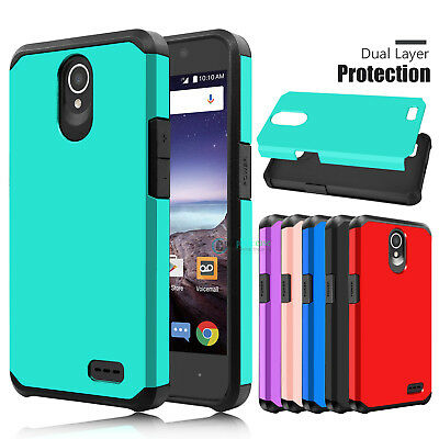 Hybrid Shockproof Impact Rubber Hard Armor Case Cover for ZTE Maven 3/Prestige 2