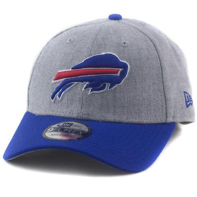 Buffalo Bills New Era NFL Team 9Forty Hat Baseball Cap In Heather Grey/Blue