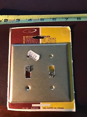 Bell Electric Vintage Double Switch Plate Cover 1961 Sprayed Brass Finish