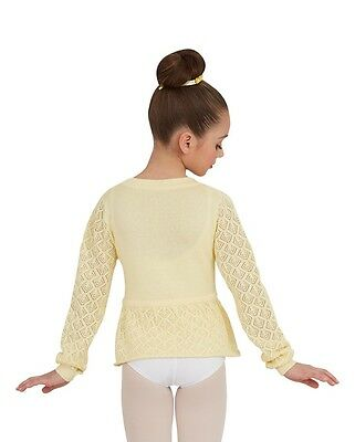 New Capezio CK1007C Yellow Girls Knit Sweater Dancers Toddlers & Small Child