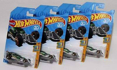 Surf Crate * Lot Of 4 * 2017 Hot Wheels * Kmart Exclusive Green Color 2018 Card