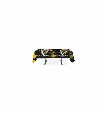 Richmond Tigers Official AFL Plastic Tablecloth Table Cover Free Postage