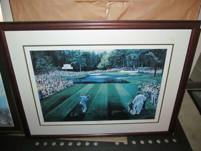 "MASTERS TED HAMLIN ""SUNDAY IN AUGUSTA"" Jack Nicklaus Arnold Palmer Golf Picture"