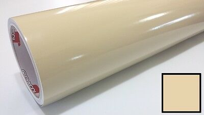 "Gloss Beige Vinyl 48""x30' Roll Sign Making Decal Supplies Craft Decoration Weed"