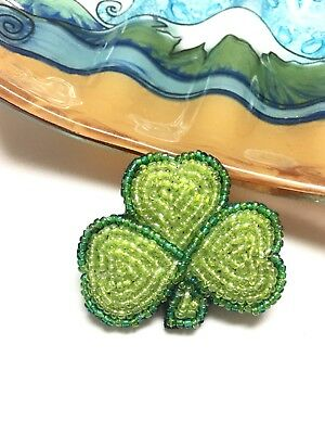 Alaska Souvenir Three Leaf Clover Good Luck Pin Brooch