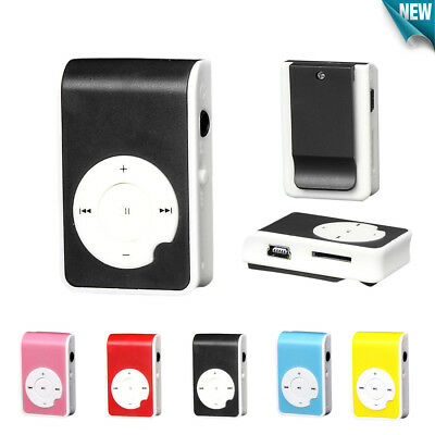 Mini Clip Metal USB MP3 Player Support Micro SD TF Card Music Media Small Size