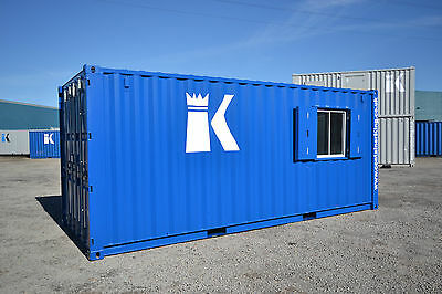 20ft shipping container,anti-vandal container. split site office / store INC VAT