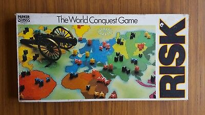Risk 1985 Parker Brothers  The World Conquest Game Complete Staregy