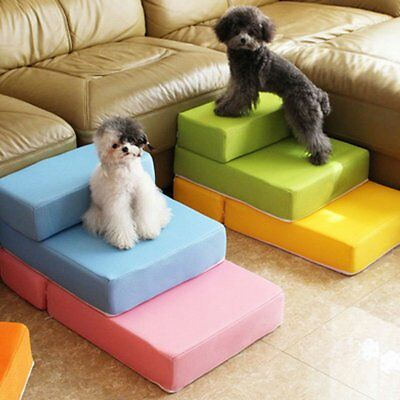 Foldable Pet Staircase Mat Waterproof Mesh Pet Bed Stairs Ramp for Small Dog NEW