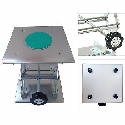 "8"" Adjustable Lift laboratory Jiffy Jack Stainless Steel Lab Platform 200x200mm"